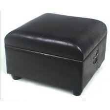 <strong>International Caravan</strong> Faux Leather Ottoman Stool