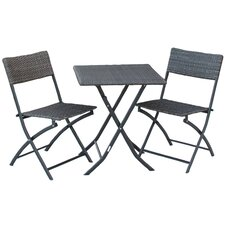 <strong>International Caravan</strong> Catalina 3-Piece Wicker Resin Patio Bistro Set