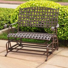 <strong>International Caravan</strong> Santa Fe Wrought Iron Double Patio Glider