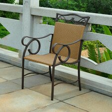 <strong>International Caravan</strong> Valencia Wicker Resin Patio Chair (Set of 2)