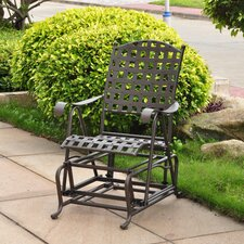 Santa Fe Wrought Iron Outdoor Patio Glider
