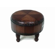 "<strong>International Caravan</strong> 19.5"" Faux Leather Ottoman"