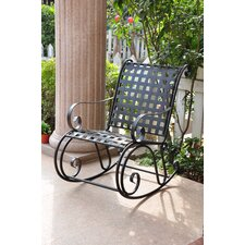 Iron Patio Scroll Rocking Chair