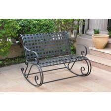 International Caravan Mandalay Scroll Double Patio Rocker