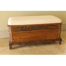 Windsor Hand Carved Storage Bedroom Bench
