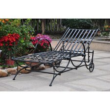 Mandalay 5-Position Wrought Iron Patio Chaise Lounge