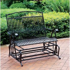 <strong>International Caravan</strong> Wrought Iron Tropico Double Patio Glider
