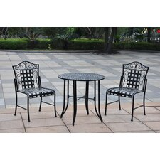 Mandalay Iron 3-Piece Patio Bistro Set