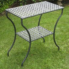 International Caravan Mandalay Wrought Iron Patio Side Table
