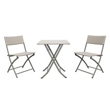 Catalina 3 Piece Wicker Resin Patio Bistro Set