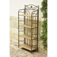 <strong>International Caravan</strong> Valencia 4-Tier Wicker Resin Outdoor Bakers Rack