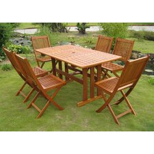 Royal Tahiti Zamora 7 Piece Dining Set