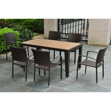 Barcelona 7-Piece Wicker Resin Patio Dining Set