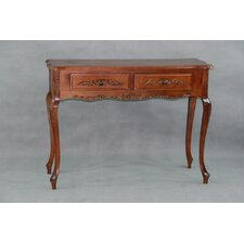 International Caravan Windsor Hand Carved 2-Drawer Console Table