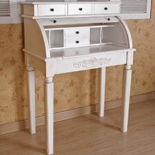 Windsor Antique White Indoor Roll Top Desk