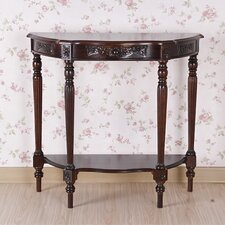 <strong>International Caravan</strong> Windsor Hand Carved Half Moon Console Table