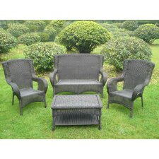 <strong>International Caravan</strong> San Tropez 4 Piece Lounge Seating Group