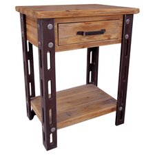 Rustic Forge End Table