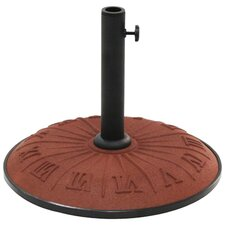 Resin Compound Roman Numeral Patio Umbrella Stand