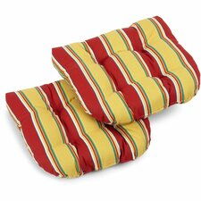 <strong>Blazing Needles</strong> Patio Chair Cushion (Set of 2)
