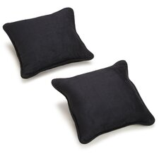 """18"""" Microsuede Pillow Package (Set of 2)"""