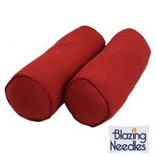 Needles Solid Twill Bolster Pillows (Set of 2)