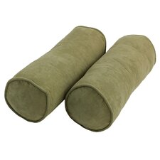 Microsuede Bolster Pillows (Set of 2)
