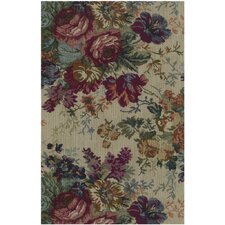 <strong>Blazing Needles</strong> Tapestry Rose Bouquet Futon Cover