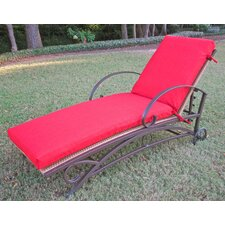 <strong>Blazing Needles</strong> Outdoor Patio Replacement Chaise Lounge Cushion