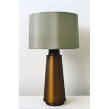 Tower Table Lamp with Silk Shade