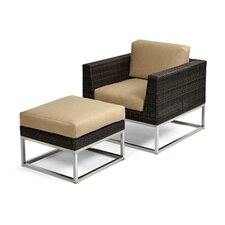 Mirabella Club Chair and Ottoman with Cushions