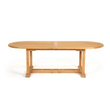 <strong>Caluco LLC</strong> Teak Oval Dining Table