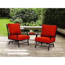 San Michele 3 Piece Rocker Club Deep Seating Group with Cushions