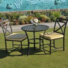 <strong>Caluco LLC</strong> San Michele 3 Piece Bistro Set with Cushion