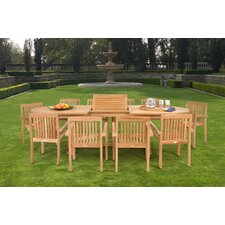 Teak 11 Pc Dining Set