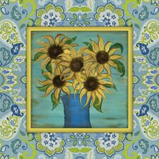 French Country Sunflowers Painting Print on Canvas in Multi