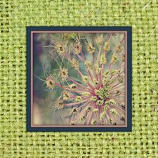 Burlap Avocado Dandelion Photographic Print on Canvas in Lime Green