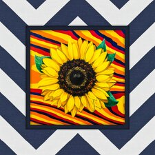 Sunflower Graphic Art on Canvas in Multi