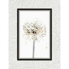 Nottingham Dandelion Graphic Art on Canvas in Black and White