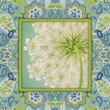 Sannio Sunshine Dandelion Graphic Art on Canvas in Blue and Green