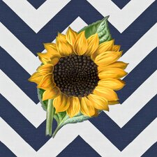 Modern Abstract Sunflower Graphic Art on Canvas in Multi