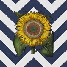 Vintage Sunflower Graphic Art on Canvas in Multi