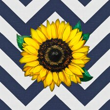 Golden Sunflower Graphic Art on Canvas in Multi