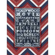 Movie Fun Textual Art on Canvas