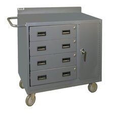 """38.37"""" H x 36"""" W x 18"""" D Mobile Bench Cabinet"""