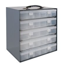 Rack for 5 Large Plastic Compartment Boxes