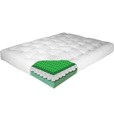 "Phiten Essence 2 Piece 8"" Latex Futon Mattress Set"