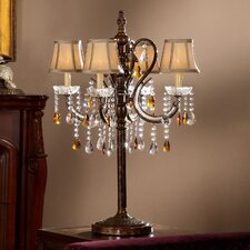 "Cortona Tea 32"" H Table Lamp with Bell Shade"