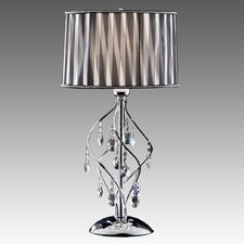 "Cortona 30.5"" H 1 Light Crystal Table Lamp"