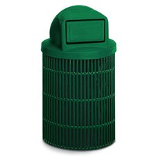 Ultra Slotted Trash Receptacle with Dome Top